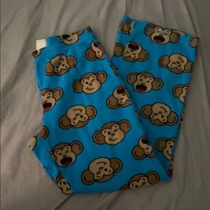 Blue monkey pajama pants